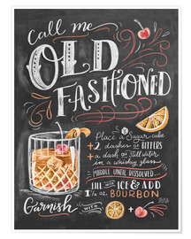 Premium-Poster  Old Fashioned Rezept (Englisch) - Lily & Val
