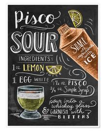 Poster  Pisco Sour - Lily & Val