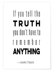 Premium-Poster tell truth 11x14