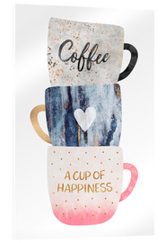 Acrylglasbild  A cup of happiness - Elisabeth Fredriksson