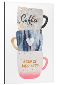 Alu-Dibond  A cup of happiness - Elisabeth Fredriksson