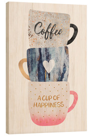Holzbild  A cup of happiness - Elisabeth Fredriksson