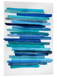 Acrylglasbild  Blue Stripes 1 - Mareike Böhmer Graphics