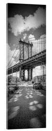 Acrylglasbild  NEW YORK CITY Manhattan Bridge Panorama - Melanie Viola