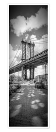 Poster  NEW YORK CITY Manhattan Bridge Panorama - Melanie Viola