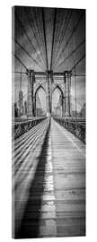Acrylglas  NEW YORK CITY Brooklyn Bridge Panorama - Melanie Viola