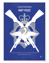 Poster  No847 My Hot Fuzz minimal movie poster - chungkong