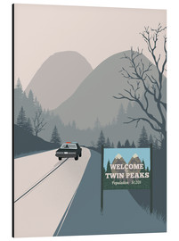 Alu-Dibond  Alternative welcome to twin peaks art - 2ToastDesign
