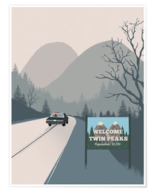 Poster  Alternative welcome to twin peaks art - 2ToastDesign
