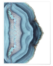 Poster  Light blue agate - Emanuela Carratoni