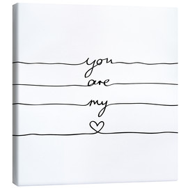 Leinwandbild  You are my heart - Mareike Böhmer Graphics