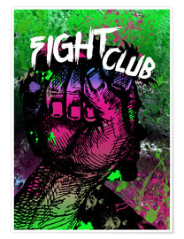 Premium-Poster Fight Club - Minimal alternative Film Fanart #2