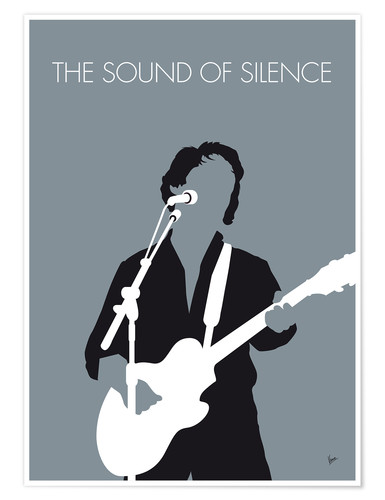 Premium-Poster Paul Simon - The Sound Of Silence
