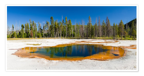 Premium-Poster Panorama Emerald Pool, Yellowstone Nationalpark