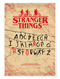 Premium-Poster  Stranger Things - Minimal TV-Show Fanart alternative - HDMI2K