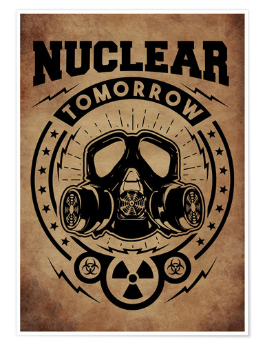 Premium-Poster nuclear tomorrow vintage