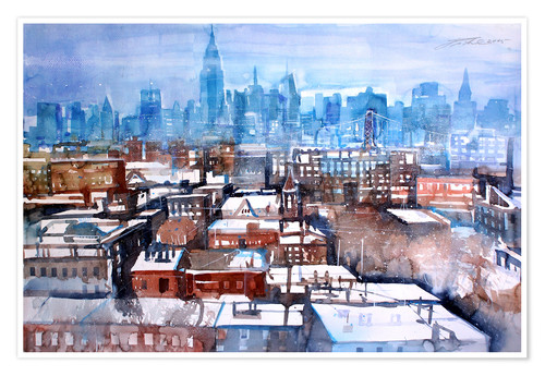 Premium-Poster New York, Brooklyn Winter