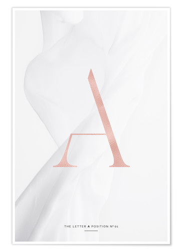 Premium-Poster ROSE GOLD LETTER COLLECTION A