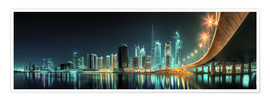 Premium-Poster Panoramablick - Dubai Business Bay