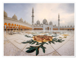 Poster  Platz der Sheikh Zayed Grand Mosque