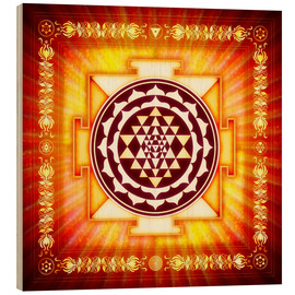 Holzbild  Sri Yantra Energy Light - Dirk Czarnota