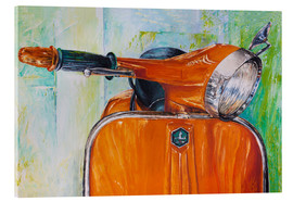 Acrylglasbild  Vespa orange - Renate Berghaus