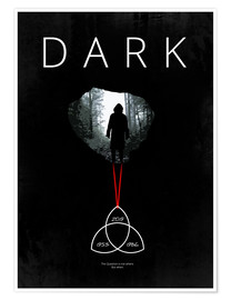 Premium-Poster Dark - TV Serie Minimal Alternative Fanart