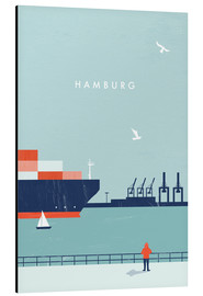 Alubild  Hamburg Illustration - Katinka Reinke