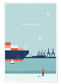 Poster  Hamburg Illustration - Katinka Reinke