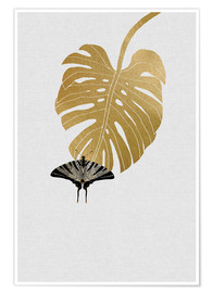 Poster  Schmetterling & Monstera - Orara Studio