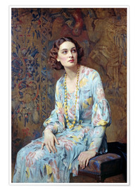 Poster  Porträt einer Dame - Albert Henry Collings