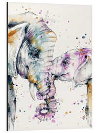 Alu-Dibond  That Type Of Love (elephants) - Sillier Than Sally