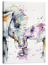 Leinwandbild  That Type Of Love (elephants) - Sillier Than Sally