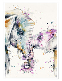 Premium-Poster  That Type Of Love (elephants) - Sillier Than Sally