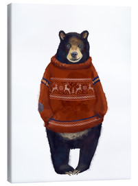 Leinwandbild  Herr Bär im Norweger-Pulli - Kidz Collection