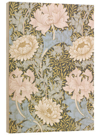 Holzbild  Chrysantheme - William Morris