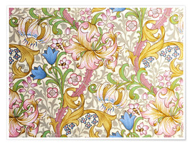 Premium-Poster  Goldene Lilie - William Morris