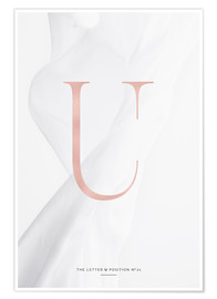 Premium-Poster ROSE GOLD LETTER COLLECTION U