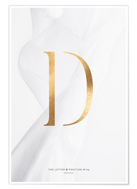 Premium-Poster GOLD LETTER COLLECTION D