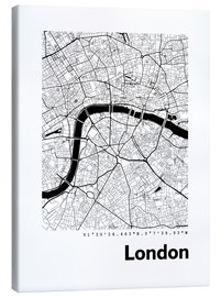 Leinwandbild  Stadtplan von London - 44spaces