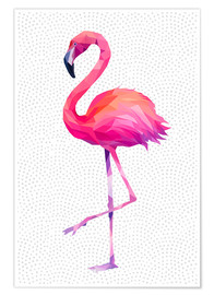 Poster  Flamingo 1 - Miss Coopers Lounge