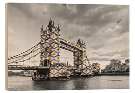 Holzbild  Tower Bridge Colour Pop