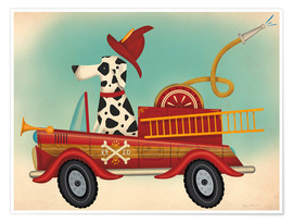 Premium-Poster  K9 Fire Department - Ryan Fowler