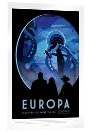 Acrylglasbild  Retro Space Travel ? Europa
