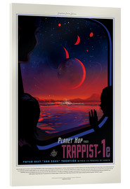 Acrylglasbild  Retro Space Travel ? Trappist-1e