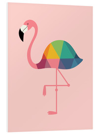 Hartschaumbild  Regenbogen-Flamingo - Andy Westface