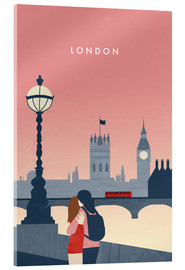 Acrylglasbild  London Illustration - Katinka Reinke