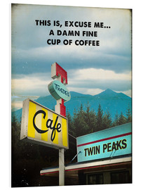 Hartschaumbild  Twin Peaks vintage twede's cafe art - 2ToastDesign
