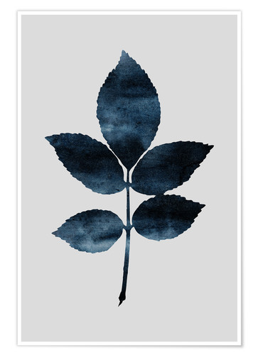 Poster Watercolor Leaves 6