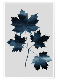 Poster Watercolor Leaves 8